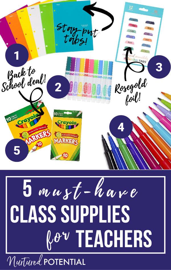 Nurtured Potential 5 Must-Have Class Supplies